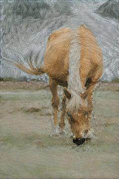Cheval par gros temps sur Slimme Kunst.nl