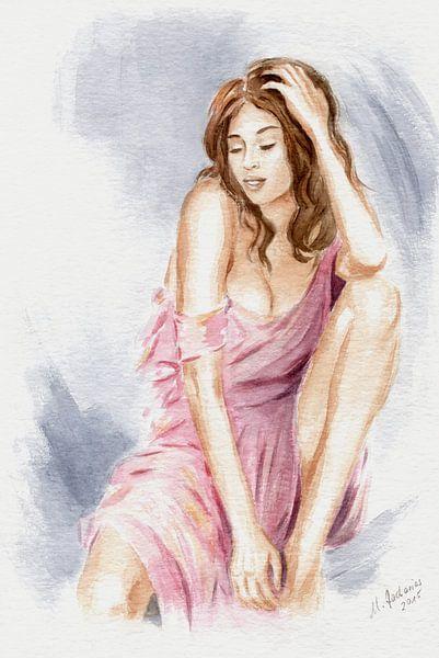La beauté naturelle - aquarelle érotique sur Marita Zacharias