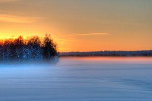 Sonnenuntergang in Schweden (Lappland)