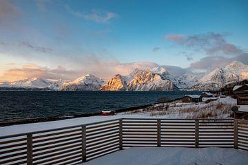 Blick auf einen Fjorn in Norwegen von Merijn Loch