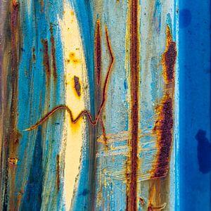 Roestig blauw en bruin - studie 4