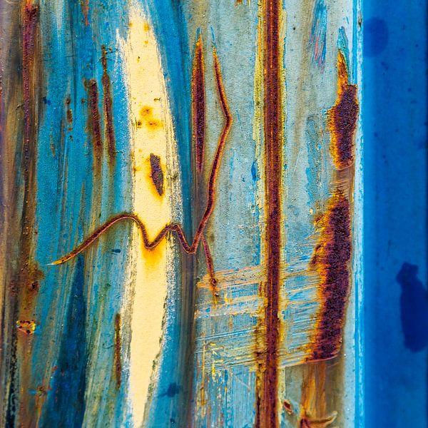 Roestig blauw en bruin - studie 4 van Texel eXperience