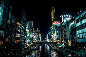 Rivier in het centrum van Osaka van Mickéle Godderis