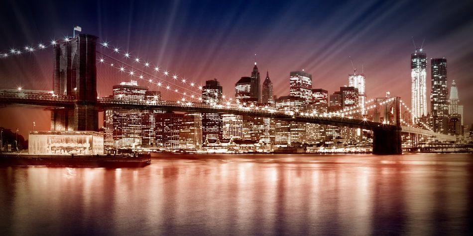 Manhattan NYC - De ondergaande zon