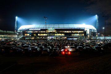 Stadion Feijenoord oder De Kuip in Rotterdam während der Halbfinale des KNVB Cup 2016 sur Merijn van der Vliet