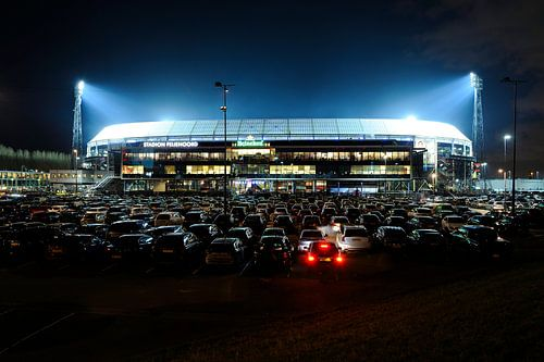 Stadion Feijenoord ofwel De Kuip in Rotterdam tijdens de halve finale van de KNVB beker 2016 van Merijn van der Vliet