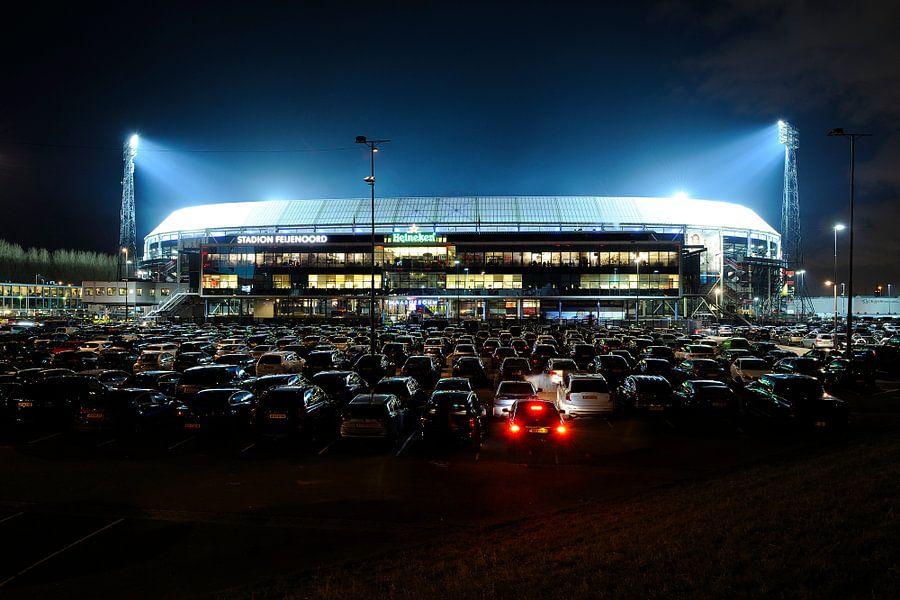 Stadion Feijenoord ofwel De Kuip in Rotterdam tijdens de halve finale van de KNVB beker 2016