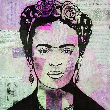 """Frida """"Dreifache Farben von Kathleen Artist Fine Art"""