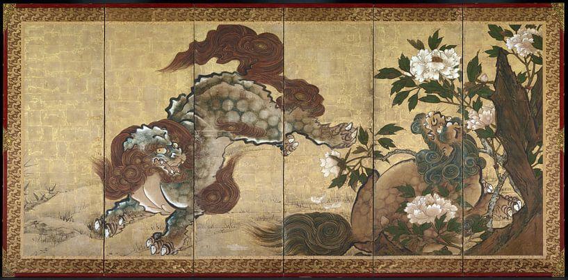 Sekkei Yamaguchi - Löwentiger und Leopard von 1000 Schilderijen