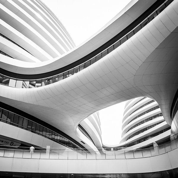 Galaxy SOHO, Winkelcentrum, Beijing, China van Bertil van Beek