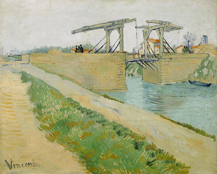 Vincent van Gogh. De brug van Langlois van 1000 Schilderijen