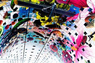 Prachtig, kleurrijk plafond van de Markthallen in Rotterdam von Marcia Kirkels