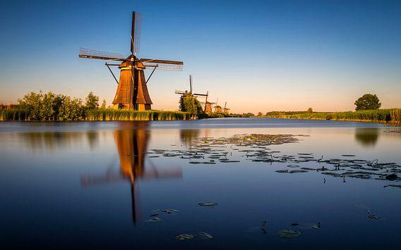 Kinderdijk Gouden Uur 1 van Joram Janssen