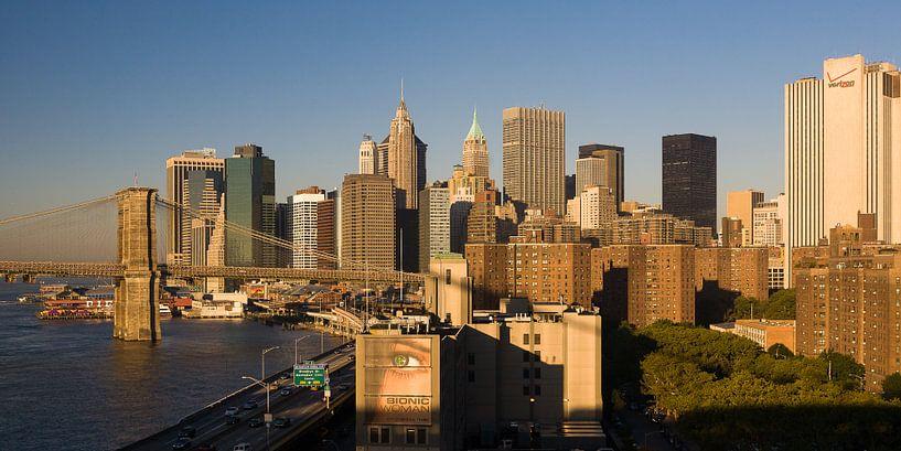 Het oog op Manhattan New York  van JPWFoto