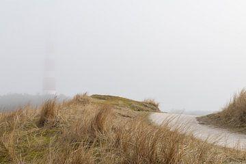 Nebel um den Leuchtturm von Ameland