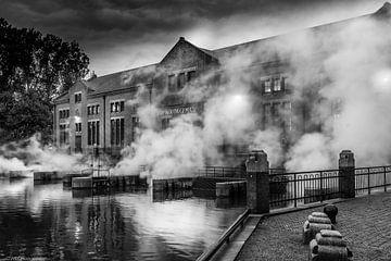 Ir. D.F. Woudagemaal in zwart-wit sur Martien Hoogebeen Fotografie