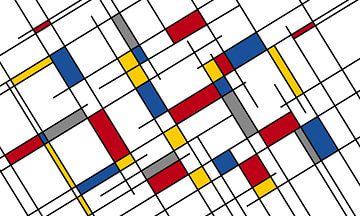 Komposition III (Piet Mondrian) von Marion Tenbergen