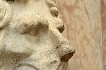 Italiaanse wandfontein met leeuwenkop van Suzan (Suus) Buskes
