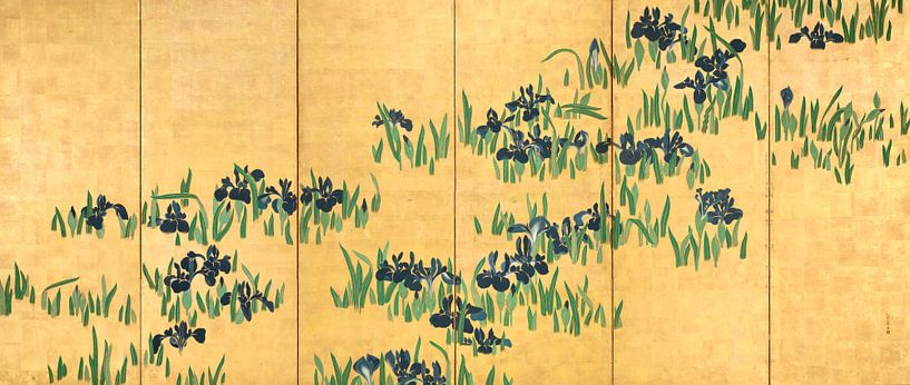 Watanabe Shikō. Iris von 1000 Schilderijen