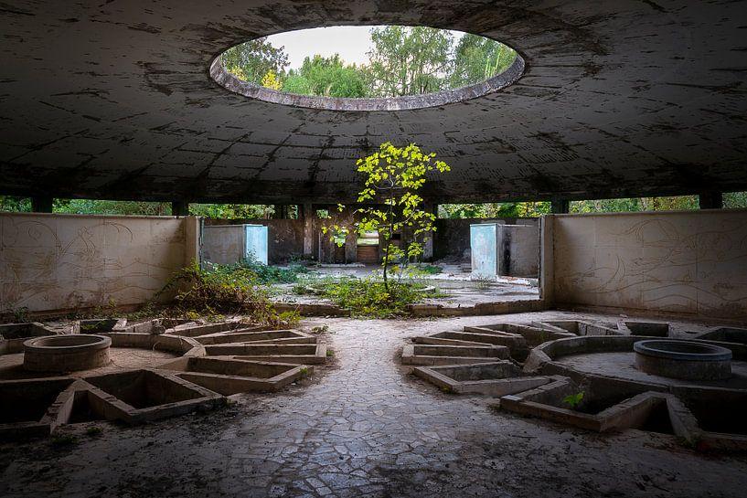 Verlaten Spa in Verval. van Roman Robroek
