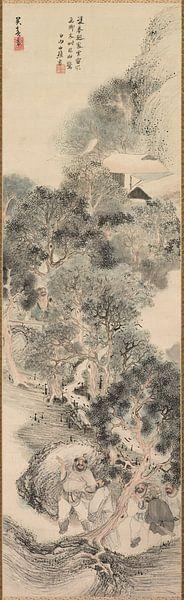 Matsumura Goshun - Water Margin Bandits van 1000 Schilderijen