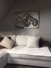 Klantfoto: Afrikanischer Elefant van Angela Dölling