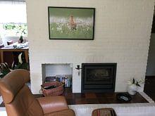 Klantfoto: Tussen de pinksterbloemen van Erik Veldkamp, op canvas