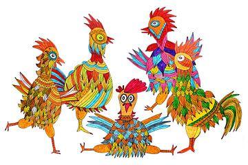 Kippen van Inge Knol