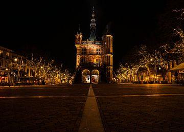 Le centre ville de Deventer la nuit sur Bart cocquart
