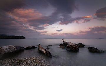 Zonsopgangssfeer in Korfoe van Christian Klös
