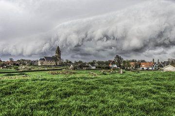 Shelf Cloud in Oosterland van Sidney Portier