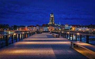 Blue Hour Deventer van Erik de Boer