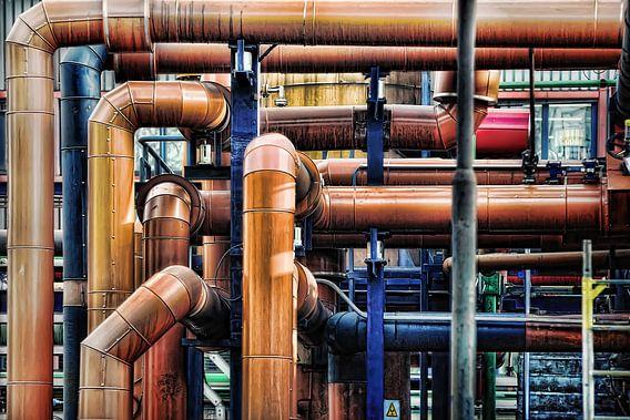Bruine chemische buizen van Gabsor Fotografie