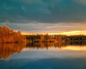 Nature lake 88471 Laupheim - Germany van Michael Nägele