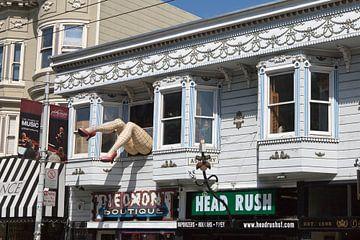 Haight Ashbury - l'ancien quartier des hippies de San Francisco. sur t.ART