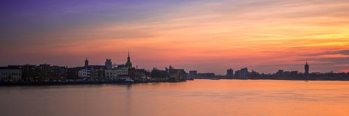 zonsondergang over Dordrecht