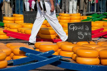 Kaasmarkt in Alkmaar van Ivonne Wierink