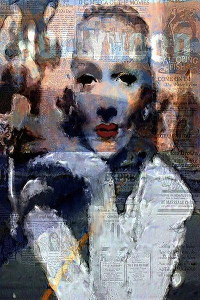 Marlene Dietrich Marlene Dietrich Pop Art von Leah Devora