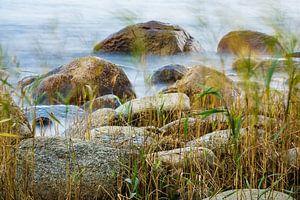 Baltic Sea coast on the island Ruegen van