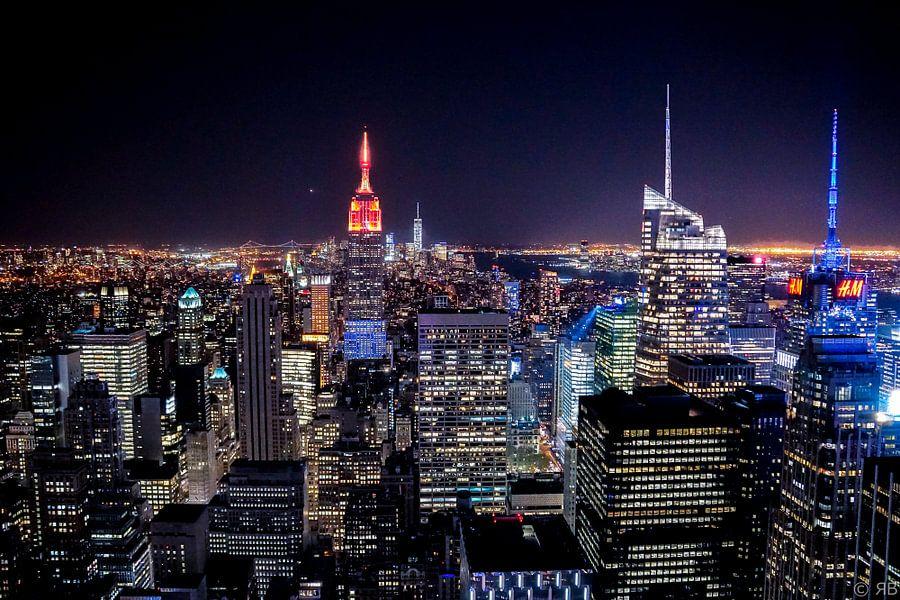New York bij nacht van Rob Bleijenberg