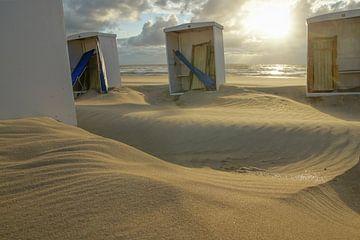 strandhokjes in katwijk von Dirk van Egmond