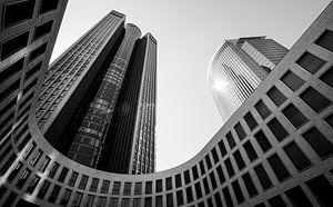 Abstracte gebouwen in ZwartWit, Frankfurt van