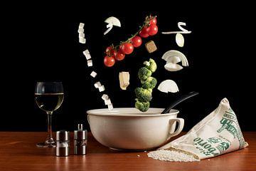 Risotto met brocoli en geitenkaas van
