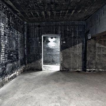 Bild eines Zimmers in einer Molkerei. von Therese Brals