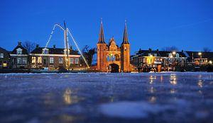 Waterpoort van Sneek (Friesland) van Tjitte Jan Hogeterp