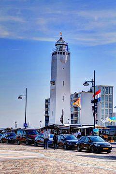 Vuurtoren Noordwijk aan Zee Nederland van Hendrik-Jan Kornelis