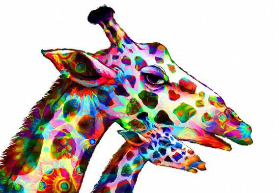 bunte Giraffen