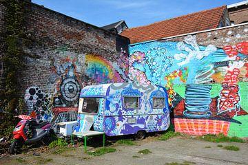 Staycation cacaravan met Street Art straatbeeld Den Bosch van My Footprints