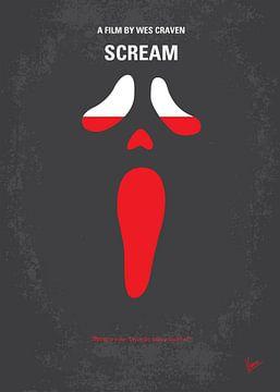No121 My SCREAM minimal movie poster van Chungkong Art