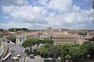 Vaticaan, Uitzicht, Rome, Italië  van Jeffrey de Ruig